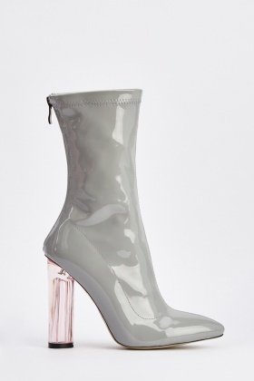PVC Transparent Pointy Toe Boots