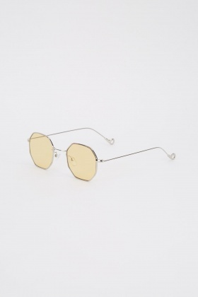 Classic Hexagon Frame Sunglasses