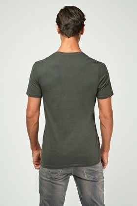 Graphic V-Neck T-Shirt