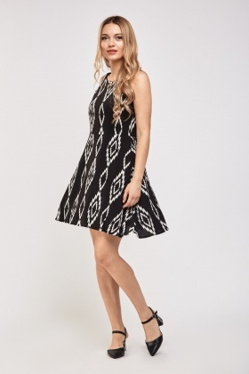 Printed Flared Swing Dress