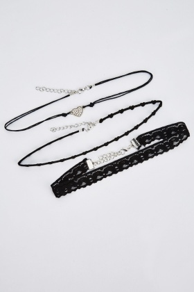 Set Of 3 Mixed Chokers