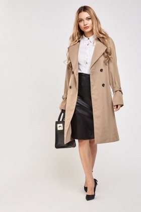 Structured Double Breasted Trench Coat