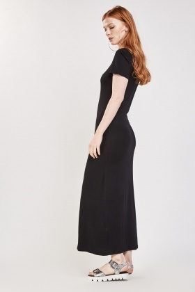 Basic Short Sleeve Maxi Dress