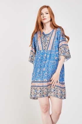 Ethnic Printed Tunic Dress