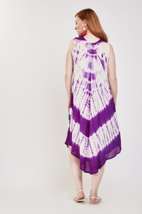 Printed Tie Dyed Tent Dress