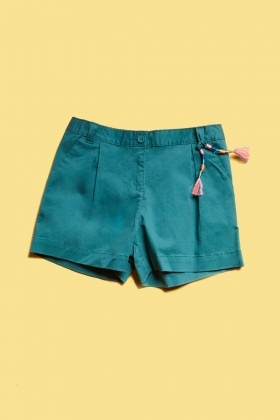 Cotton Blend Girls Shorts