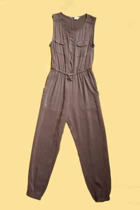 Twin Pocket Front Thin Jumpsuit