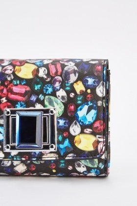 Jewel Print Mini Clutch Bag
