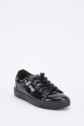 PVC Lace Up Trainers