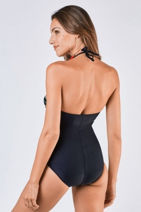 Ruched Striped Swimsuit
