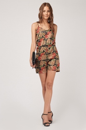 Floral Elasticated Playsuit