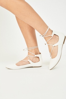 Lace Up Court Pumps