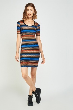 Basic Aztec Print Mini Dress
