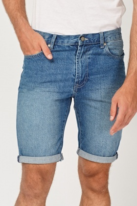 Denim Blue Mens Shorts