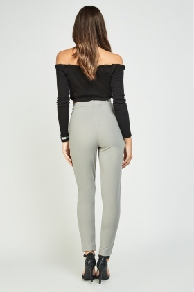 High Rise Skinny Fit Trousers