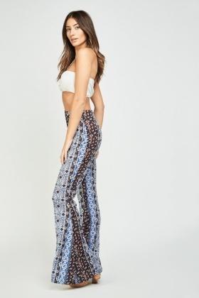 008e4ea702db High Waist Tile Printed Flared Trousers - Just £5