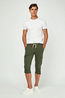 Light Weight Ankle Cropped Trousers