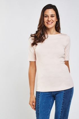 Pack Of 2 Basic Bateau Neck Tops