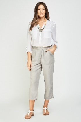 Straight Fit Casual Trousers
