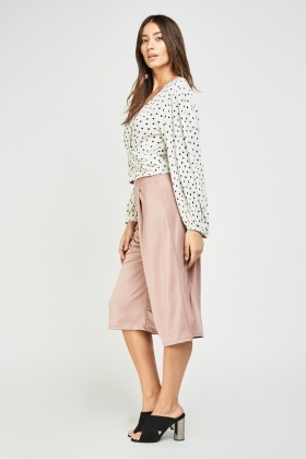 Wide Leg Crop Culottes