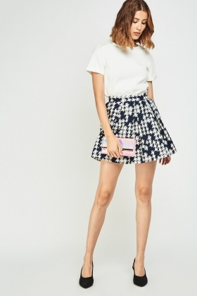 Printed Box Pleated Rara Skirt