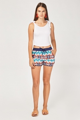 Tribal Print Casual Shorts