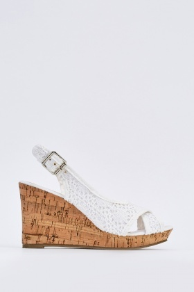 Crochet Cross Over Slingback Wedges