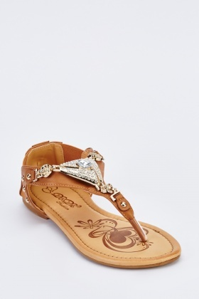 Embellished Strap Sandals