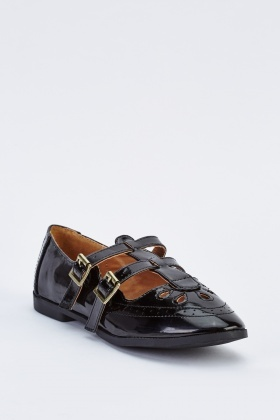 Vintage Twin Buckle Shoes
