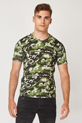 Casual Camouflage Print T-Shirt
