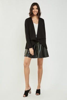 Draped Waterfall Blazer