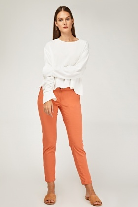 Low Waist Straight Fit Chinos