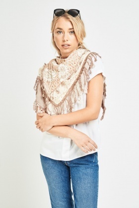 Crochet Overlay Ombre Scarf