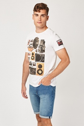 Graphic Mixed Casual T-Shirt