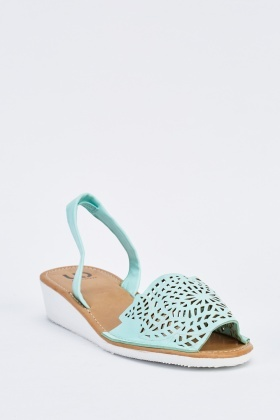 Laser Cut Slingback Wedge