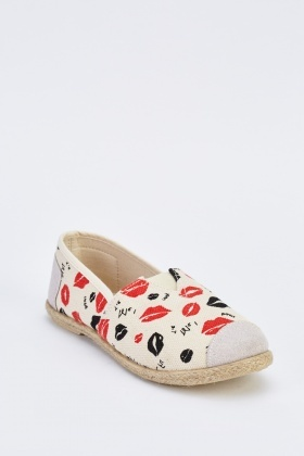 Novelty Print Slip-On Espadrilles