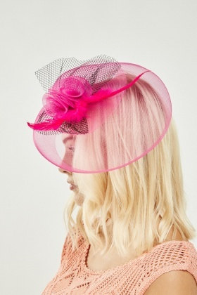 Rose Mesh Contrast Fascinator