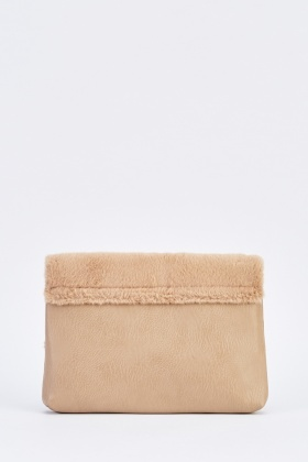 Short Faux Fur Shoulder Bag