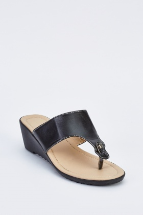 Slip On Wedge Sandals