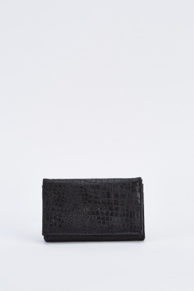 Textured Mock Croc Purse