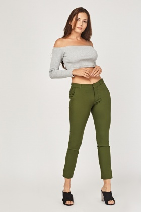 Slim Fit Cigarette Trousers