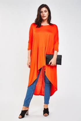 Batwing Sleeve Long Draped Top