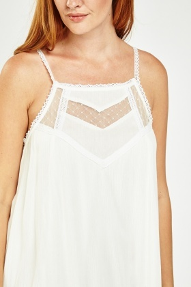 Lace Insert Frilly Tunic Dress