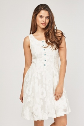 Lace Overlay Swing Dress