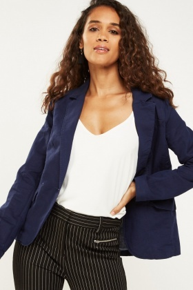Double Breasted Collar Blazer