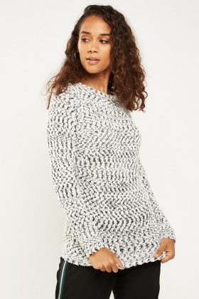 Long Sleeve Speckled Knit Jumper