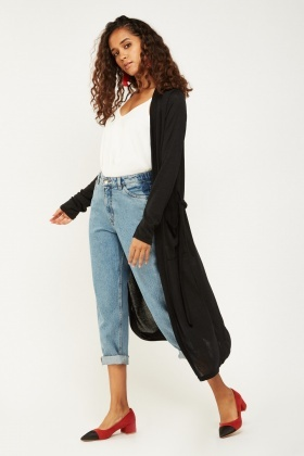 Long Waterfall Maxi Cardigan