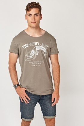 Metallic Insert Bone Graphic T-Shirt