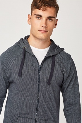 Speckled Zip Up Hooded Jacket