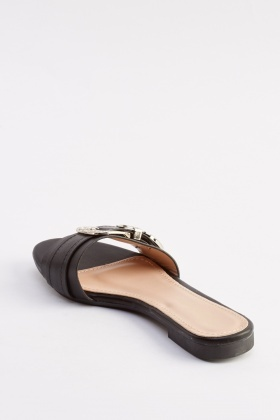 Buckle Detailed Slip On Shoes